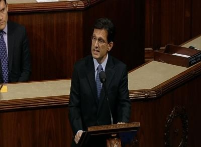 News video: Cantor Warns of Instability, Terror in Farewell